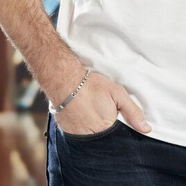 Bracelet Clement Acier Blanc Oxyde De Zirconium - Bracelets fantaisie Homme | Histoire d'Or