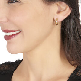 Créoles Shalana Lisses Demi Jonc Or Jaune - Boucles d'oreilles créoles Femme   Histoire d'Or