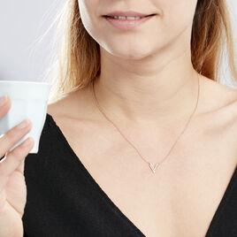 Collier Nollia Argent Rose Oxyde De Zirconium - Colliers fantaisie Femme | Histoire d'Or