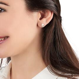 Boucles D'oreilles Puces Aloys Or Jaune Perle De Culture - Clous d'oreilles Femme   Histoire d'Or