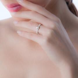 Bague Dayna Or Blanc Oxyde De Zirconium - Bagues solitaires Femme | Histoire d'Or
