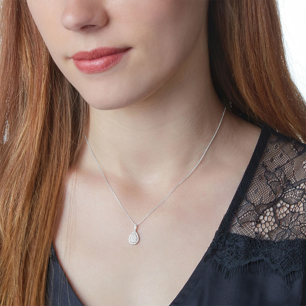Collier Izia Or Blanc Diamant - Bijoux Femme | Histoire d'Or