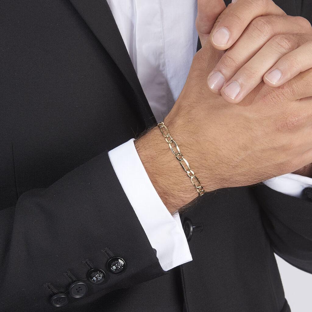 Bracelet Ophelio Maille Alternee 1/1 Or Jaune - Bracelets chaîne Homme   Histoire d'Or