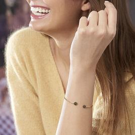 Bracelet Jonc Eryne Or Jaune - Bracelets joncs Femme   Histoire d'Or