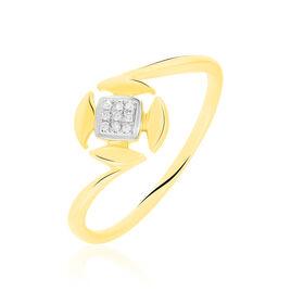 Bague Xaverine Or Bicolore Diamant - Bagues avec pierre Femme | Histoire d'Or