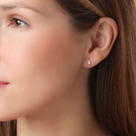 Boucles D'oreilles Pendantes Capucine Or Rose Quartz - Boucles d'oreilles pendantes Femme | Histoire d'Or
