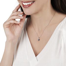 Collier Sagesse Or Blanc Saphir Et Diamant - Bijoux Femme   Histoire d'Or