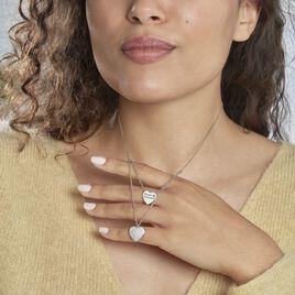 Collier Amarita Argent Blanc Oxyde De Zirconium - Colliers Coeur Femme | Histoire d'Or