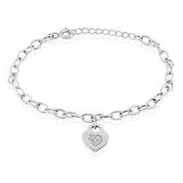 Bracelet Dorote Argent Blanc Oxyde De Zirconium - Bracelets fantaisie Femme | Histoire d'Or