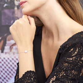 Bracelet Princess Argent Blanc Oxyde De Zirconium - Bracelets fantaisie Femme   Histoire d'Or