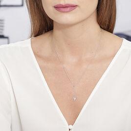 Collier Jane Argent Blanc - Colliers fantaisie Femme | Histoire d'Or