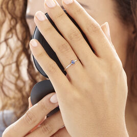 Bague Solitaire Dota Or Blanc Saphir - Bagues solitaires Femme | Histoire d'Or