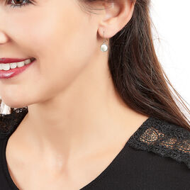 Boucles D'oreilles Pendantes Joana Or Rose Nacre - Boucles d'oreilles pendantes Femme | Histoire d'Or