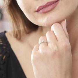 Bague Dana Or Blanc Oxyde De Zirconium - Bagues solitaires Femme | Histoire d'Or