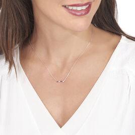Collier Or Blanc Enid Et Diamant - Bijoux Femme | Histoire d'Or