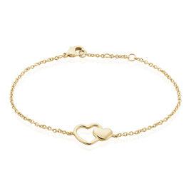 Bracelet Karelae Plaque Or Jaune - Bracelets Coeur Femme | Histoire d'Or