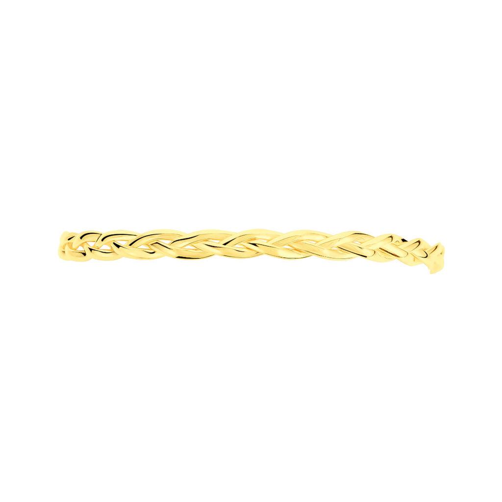 Bracelet Jonc Anaisaae Tresse Or Jaune - Bijoux Femme | Histoire d'Or
