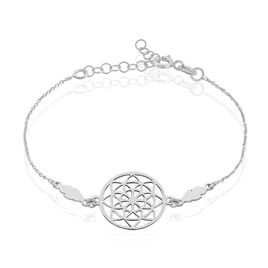 Bracelet Enola Argent Blanc - Bracelets Plume Femme | Histoire d'Or