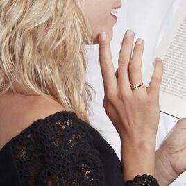 Bague Solitaire Or Jaune Diamant Synthetique - Bagues solitaires Femme   Histoire d'Or