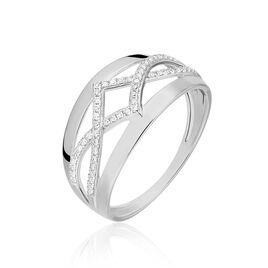 Bague Suella Or Blanc Diamant - Bagues avec pierre Femme | Histoire d'Or