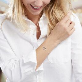 Bracelet Elanda Argent Blanc Oxyde De Zirconium - Bracelets Coeur Femme | Histoire d'Or