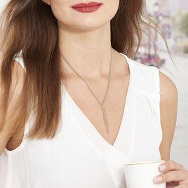 Collier Rose Capucine Argent - Colliers fantaisie Femme | Histoire d'Or