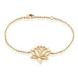 Bracelet Fuji Plaque Or Jaune - Bracelets fantaisie Femme   Histoire d'Or