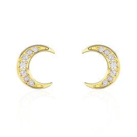 Boucles D'oreilles Or Jaune Francoise-marie Lune - Boucles d'Oreilles Lune Femme | Histoire d'Or