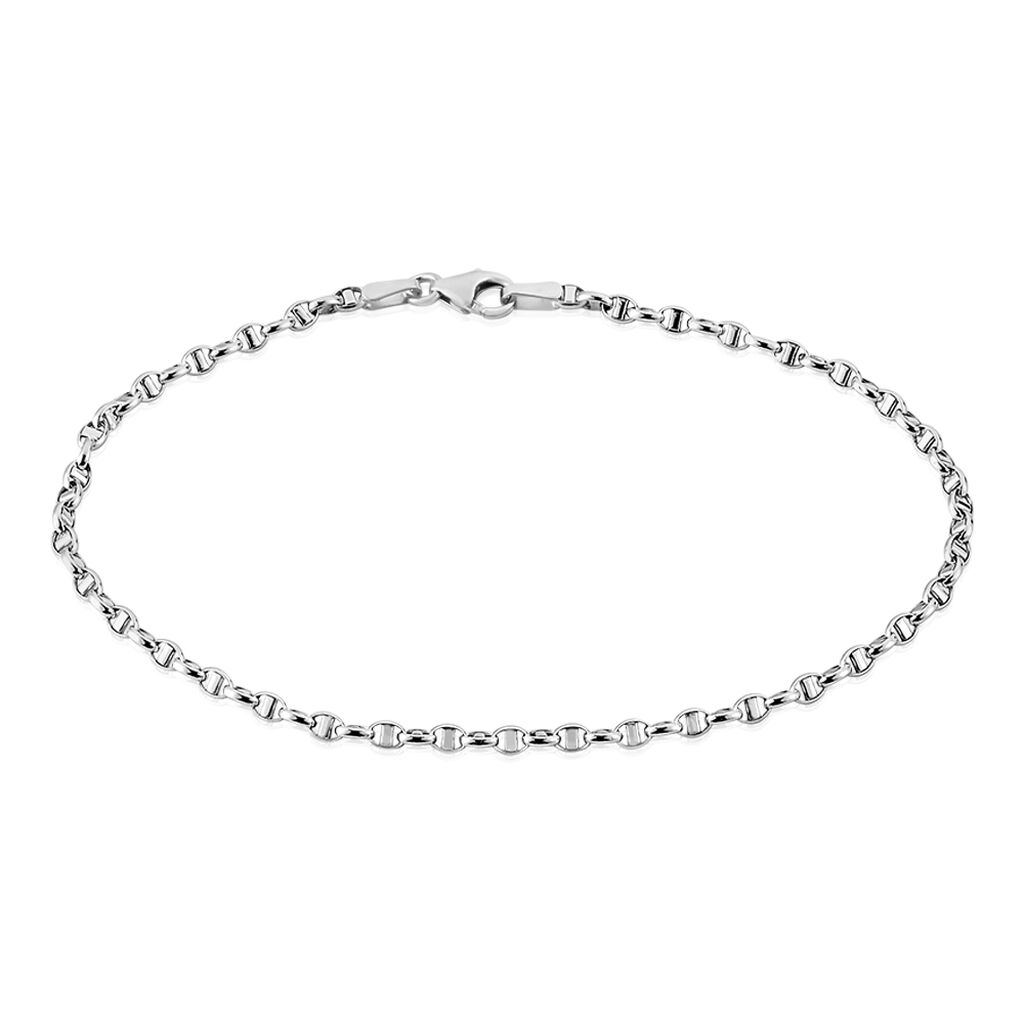 Bracelet Carlo Maille Marine Ronde Or Blanc - Bracelets chaîne Femme | Histoire d'Or