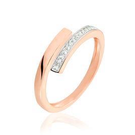 Bague Abeline Or Rose Diamant - Bagues avec pierre Femme | Histoire d'Or