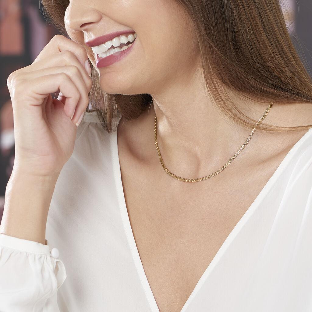 Chaîne Mei-line Maille Palmier Or Jaune - Chaines Femme   Histoire d'Or