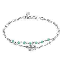 Bracelet Zophie Argent Blanc Pierre De Synthese - Bracelets Plume Femme | Histoire d'Or