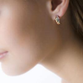 Créoles Igora Or Tricolore - Boucles d'oreilles créoles Femme | Histoire d'Or