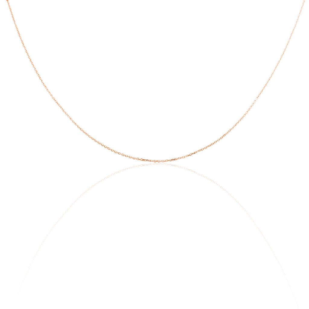 Chaîne Miniarae Maille Forçat Diamantée Or Rose - Chaines Femme | Histoire d'Or