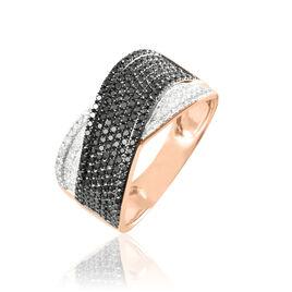 Bague Elyne Or Rose Diamant - Bagues avec pierre Femme | Histoire d'Or