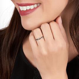Bague Lilybeth Or Blanc Diamant - Bagues avec pierre Femme   Histoire d'Or