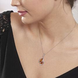 Collier Hailey Argent Blanc Ambre - Colliers fantaisie Femme | Histoire d'Or