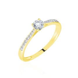 Bague Solitaire Laetitia Or Jaune Diamant Synthetique - Bagues avec pierre Femme | Histoire d'Or