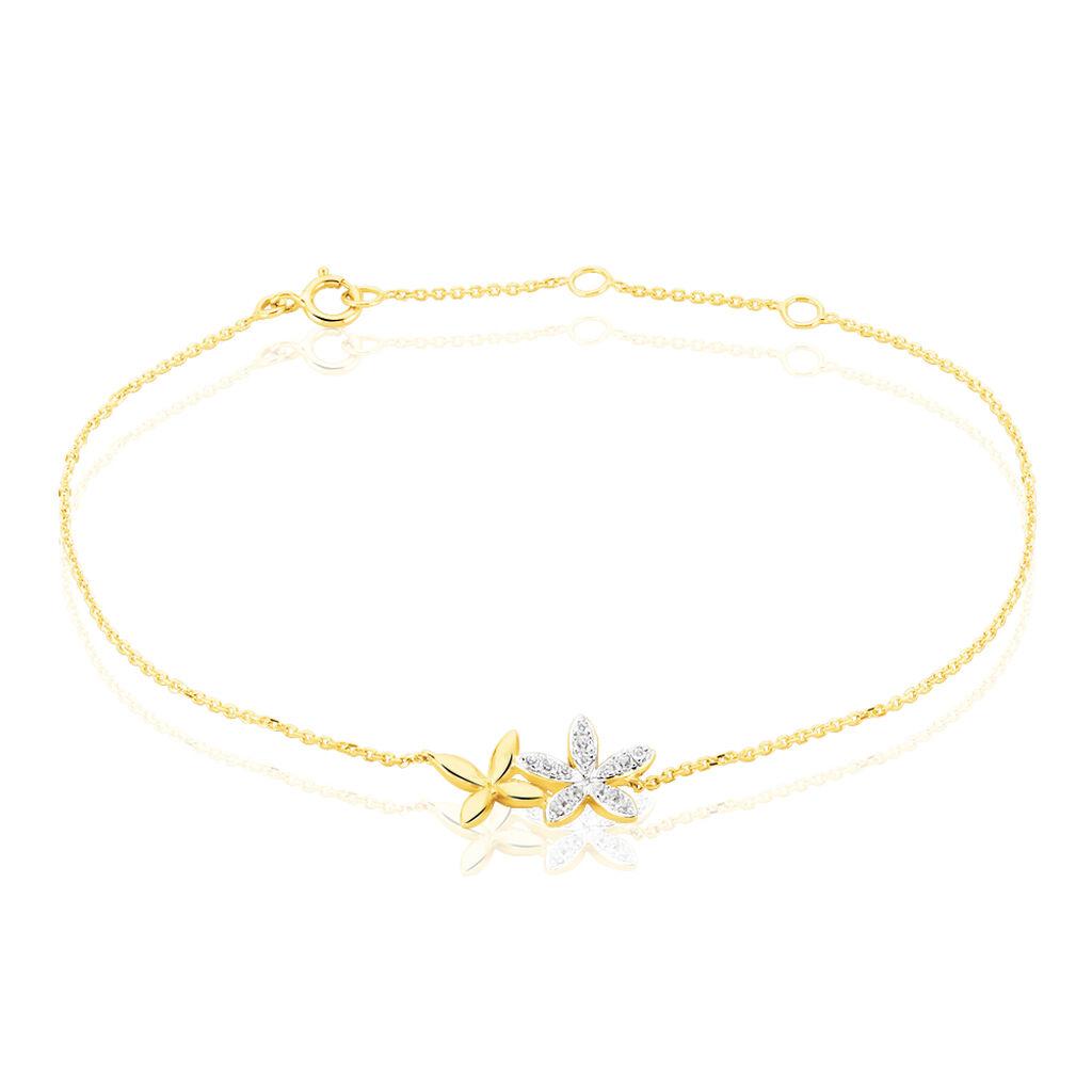 Bracelet Nahya Or Jaune Oxyde De Zirconium - Bijoux Femme | Histoire d'Or