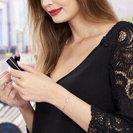 Bracelet Argent Rose Fleur Oxyde - Bracelets fantaisie Femme | Histoire d'Or
