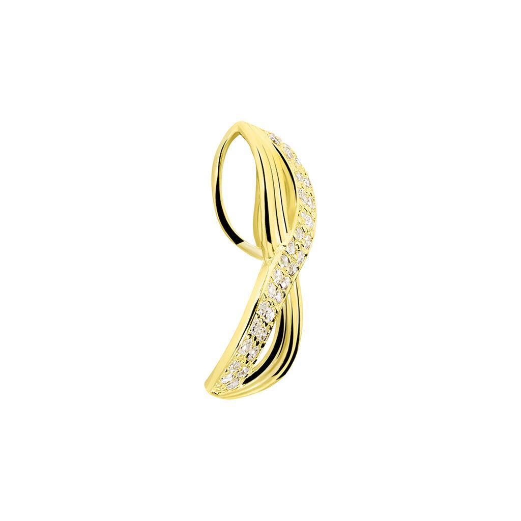 Pendentif Loely Or Jaune Oxyde De Zirconium - Pendentifs Infini Femme | Histoire d'Or