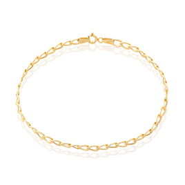 Bracelet Damon Maille Gourmette Or Jaune - Bracelets chaîne Femme   Histoire d'Or