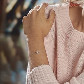 Bracelet Modana Or Blanc Diamant - Bracelets Coeur Femme | Histoire d'Or
