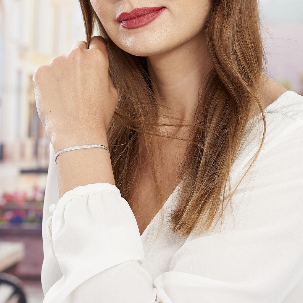 Bracelet Nuriaae Maille Heringbone Argent Blanc - Bracelets chaîne Femme | Histoire d'Or