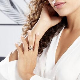 Bague Adel Acier Blanc - Bagues fantaisie Femme | Histoire d'Or