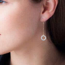 Boucles D'oreilles Pendantes Baiza Or Jaune - Boucles d'oreilles pendantes Femme | Histoire d'Or