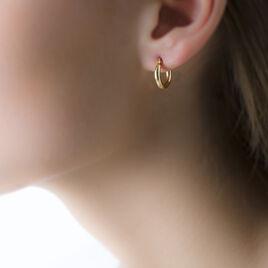 Créoles Verania Lisses Fil Rond Or Jaune - Boucles d'oreilles créoles Femme   Histoire d'Or