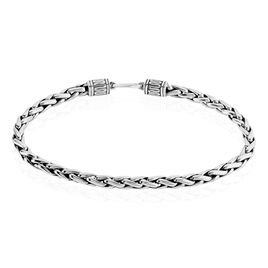 Bracelet Argent Moses Maille Palmier Effet Vieilli - Bracelets chaîne Homme | Histoire d'Or