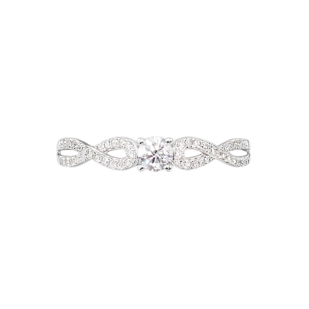 Bague Solitaire Livia Or Blanc Diamant - Bagues avec pierre Femme   Histoire d'Or