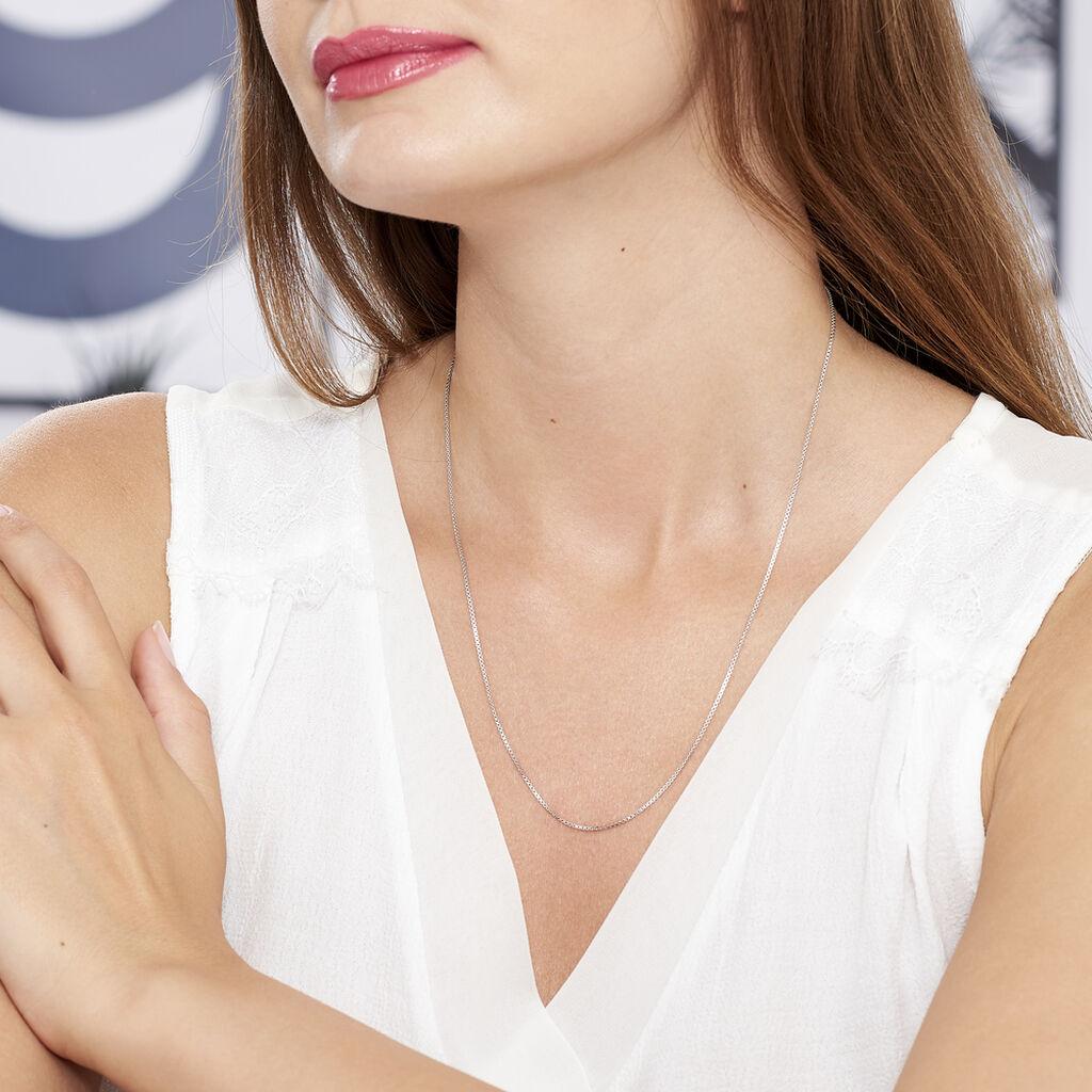 Chaîne Alyze Maille Venitienne Argent Blanc - Chaines Femme | Histoire d'Or